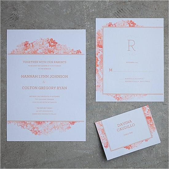 Petunia Watercolour Wedding Invitation