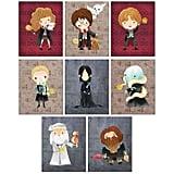 Harry Potter Set of 8 Art Prints