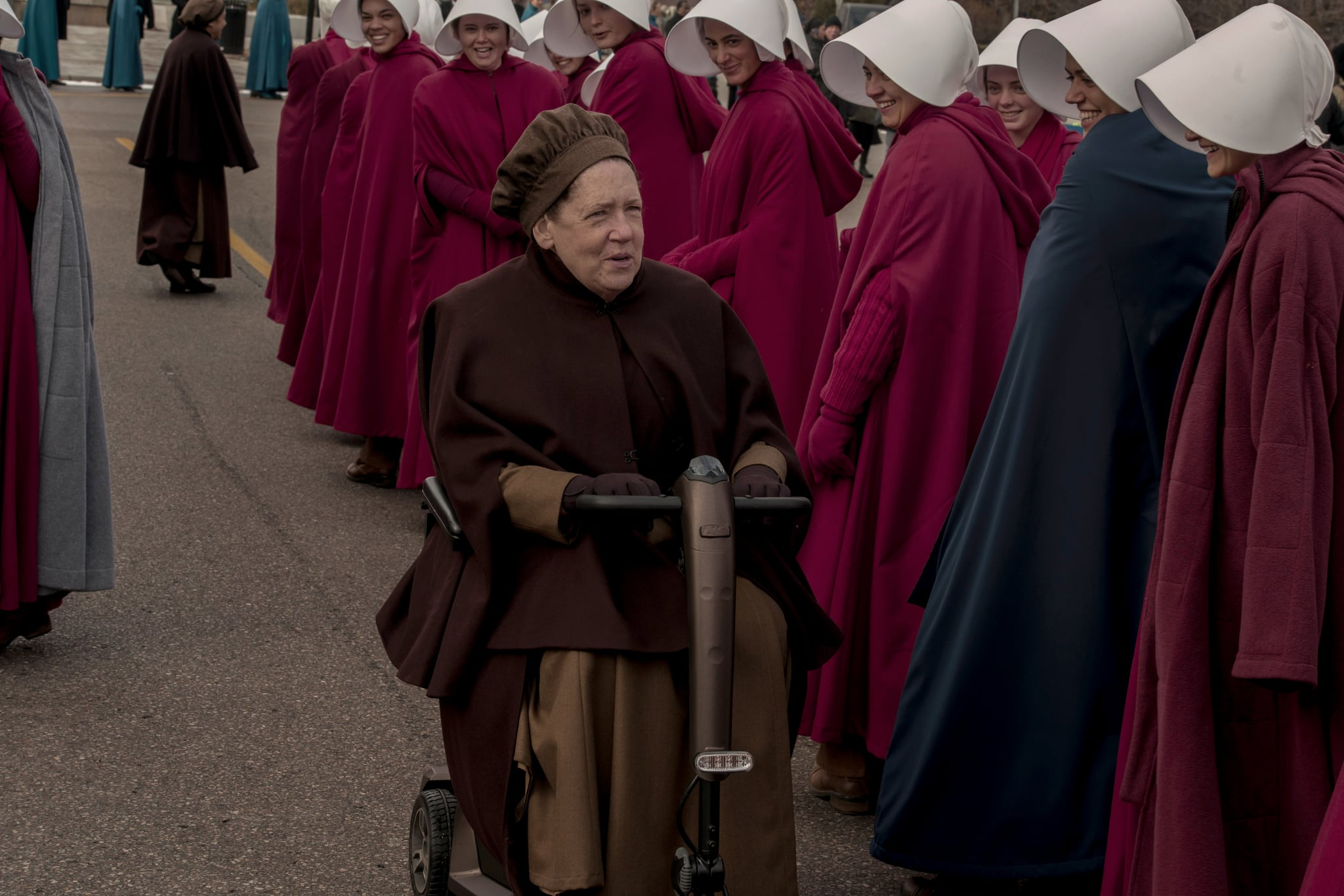 THE HANDMAID'S TALE, Ann Dowd in 'God Bless the Child', (Season 3, Episode 304, aired June 12, 2019), ph: Elly Dassas / Hulu / Courtesy Everett Collection