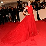 Doutzen Kroes wore Giambattista Valli at the 2011 Costume Institute Gala at The Metropolitan Museum of Art in May 2011.