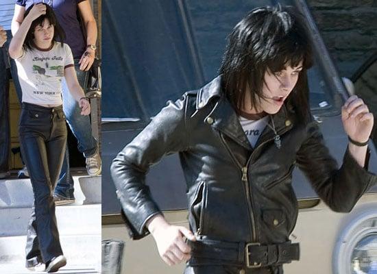 Photos of Kristen Stewart as Joan Jett Filming The Runaways