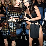 Taylor Swift and Selena Gomez at the 2015 VMAs