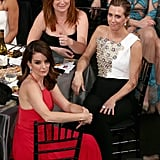 Tina Fey, Kristen Wiig, and Amy Poehler sat together in the audience in 2016.