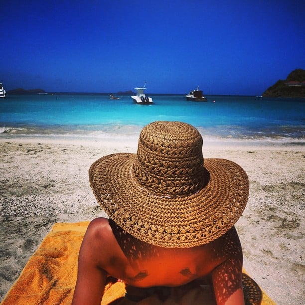Nicole Richie relaxed on the beach during a St. Barts vacation. Source: Instagram user nicolerichie