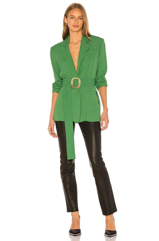Materiel Lightweight Belted Blazer in Green