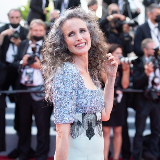 Andie MacDowell Debuts Gray Hair at Cannes Film Festival
