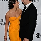 Lea had her longtime friend, Jonathan Groff, by her side at the June 2012 Tony Awards in NYC.
