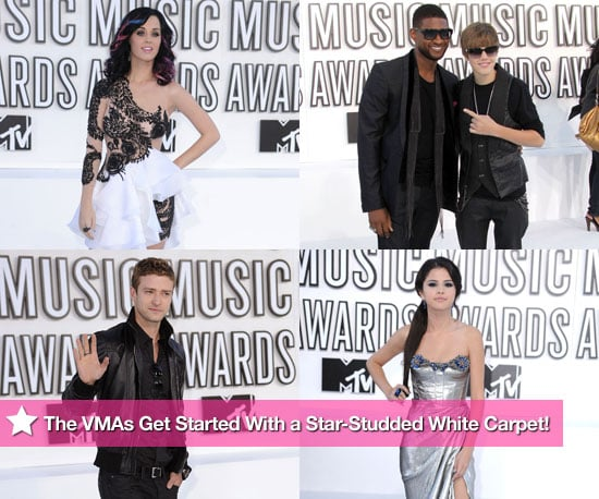 Pictures of Katy Perry, Selena Gomez, Justin Timberlake, Usher, and Justin Bieber at the MTV VMAs 2010-09-12 18:52:00