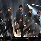 *NSYNC brought back some of their signature '90s dance moves for their VMAs performance.