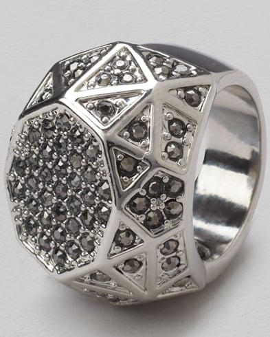 This French Connection hexagon pave ring ($25, originally $30) is too inexpensive to overlook.