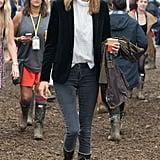 Alexa Chung at Glastonbury 2014