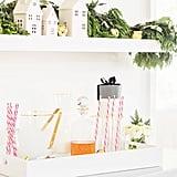 Sugar Paper Peppermint Stripe Reusable Straws