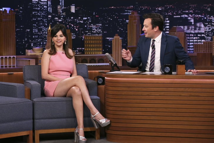 Selena Gomez Wears Miu Miu Dress on The Tonight Show