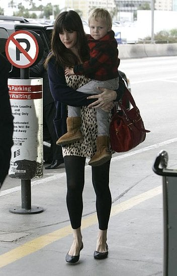 Liv Tyler and Son Milo Langdon at LAX on January 22, 2008
