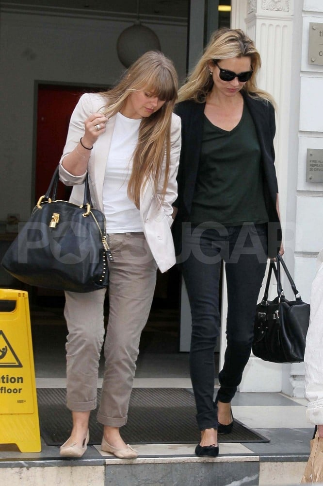 Kate Moss ran errands around London today with her assistant Fiona. The ladies are gearing up for Kate's July wedding, which is apparently going down in just four weeks on the 2nd! The supermodel has some practice wearing bridal attire, as Kate Moss modeled wedding gowns in both Burberry's 2000 campaign and in a 1991 issue of Brides UK! Fashionologie also has a roundup of Kate's 26 best moments in white. Kate has other big details sorted already, with Mario Testino reportedly acting as her photographer and her pal John Galliano helping to design her dress despite his legal woes.