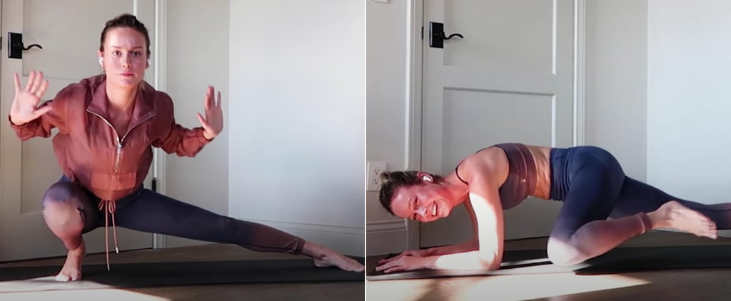 Watch Brie Larson's Intense Full-Body At-Home Workout