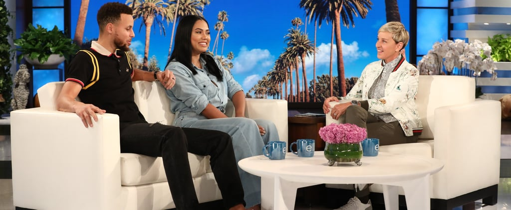 Stephen Curry and Ayesha Curry on Ellen Show February 2018