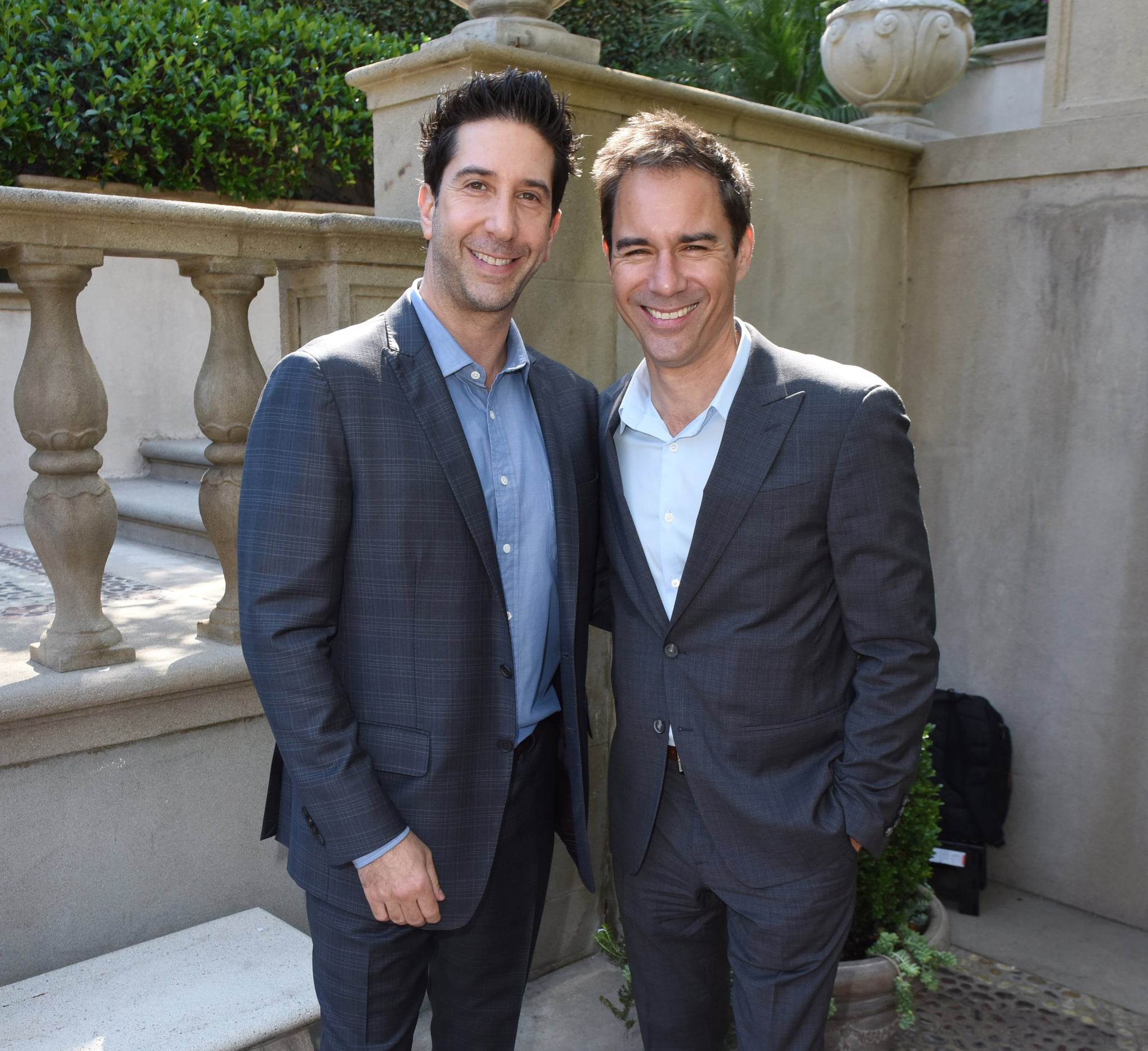 BEVERLY HILLS, CA - OCTOBER 08:  David Schwimmer and Eric McCormack attend The Rape Foundation's Annual Brunch on October 8, 2017 in Beverly Hills, California  (Photo by Vivien Killilea/Getty Images for The Rape Foundation)