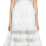 Self-Portrait Bea Eyelet Cotton Midi Dress