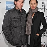 Christy Turlington posed with Ed Burns at the premiere of Hysteria at the 2012 Tribeca Film Festival.