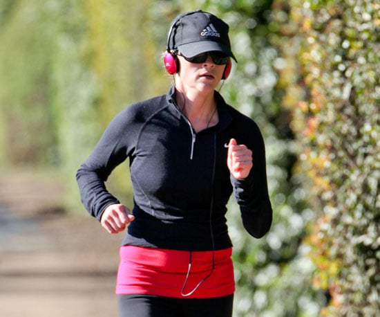 Slide Picture of Reese Witherspoon Jogging in LA