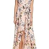 Eliza J Floral Ruffle Maxi Dress