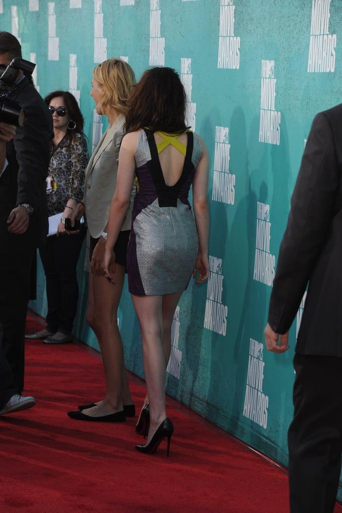 Kristen Stewart walked the red carpet at the MTV Movie Awards.