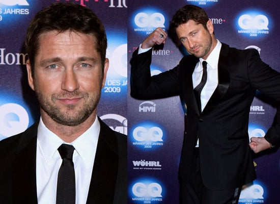 Photos of Gerard Butler at Germany's GQ Men of the Year Awards, Lindsay Lohan Denies Dating Gerard Butler Gossip