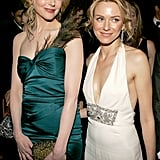 Naomi and Nicole were side by side for a Golden Globes afterparty in January 2005.