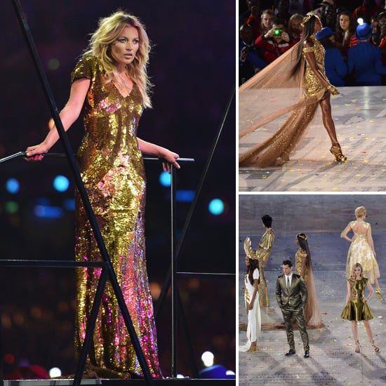 Kate Moss, Naomi Campbell and the UK's Best Models Strut Their Stuff at Olympics Closing Ceremony