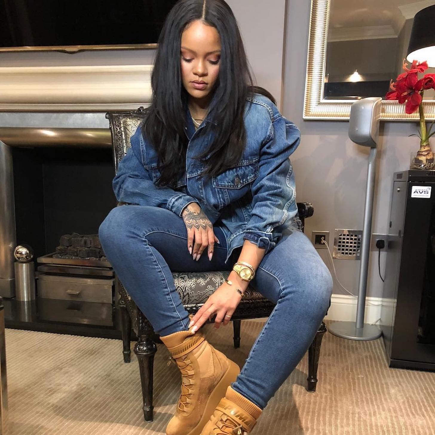 88fd0923d2c8 Rihanna s Brown Suede Fenty Puma Boots