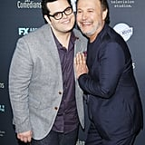 Josh Gad and Billy Crystal teamed up at the LA premiere of their new FX show, The Comedians, on Monday.