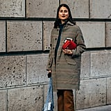 Style Multicolored Boots With a Checkered Coat