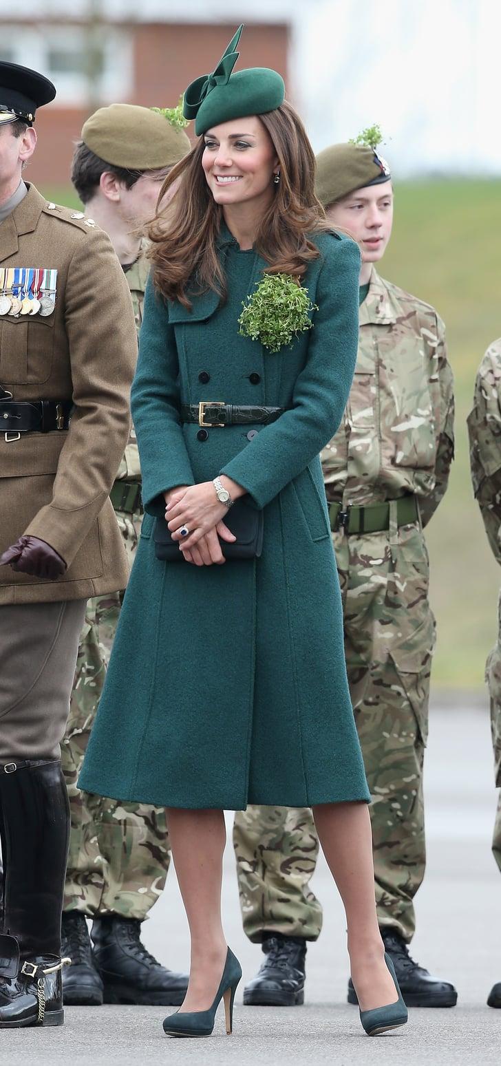 Kate Middleton In A Green Coat Kate Middleton Style Popsugar Fashion Photo 3