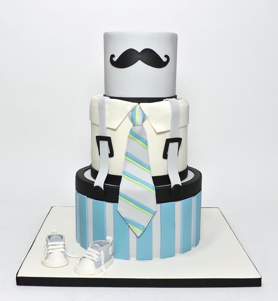 Mr. Mustache Little Man Cake