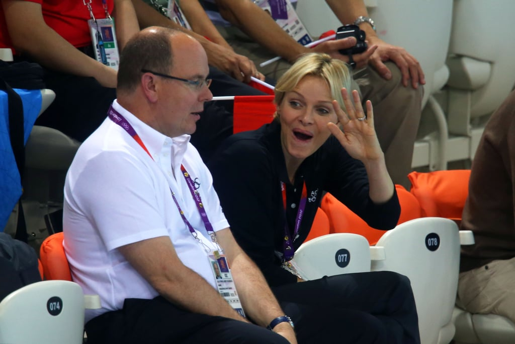 Princess Charlene and Prince Albert cheered together at the Olympics.