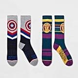 Striped Avengers Crew Socks