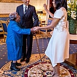 When he and the FLOTUS danced with 106-Year-Old Virginia McLaurin in the White House during Black History Month