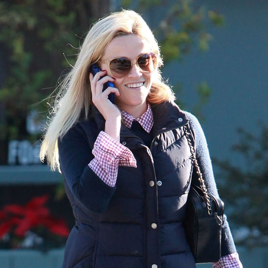 Reese Witherspoon in Puffy Jacket Pictures in LA