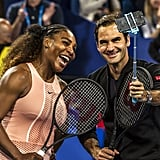 Photos From Serena and Roger's Mixed Doubles Match
