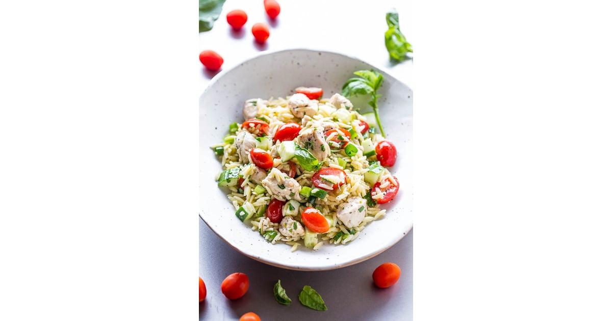 chicken orzo salad  summer family dinner recipes