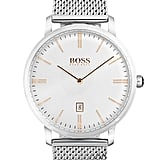 The Hugo Boss Stainless Steel Mesh Bracelet Strap Watch ($245) is a classic men's watch that's not in-your-face or over the top.