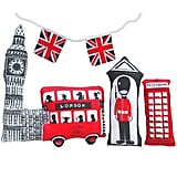 For craft seamstresses, there's Sewgirl's sweet Make a Little London kit ($17), a sheet of fabric printed with London attractions that can be cut and sewn into little pillows.