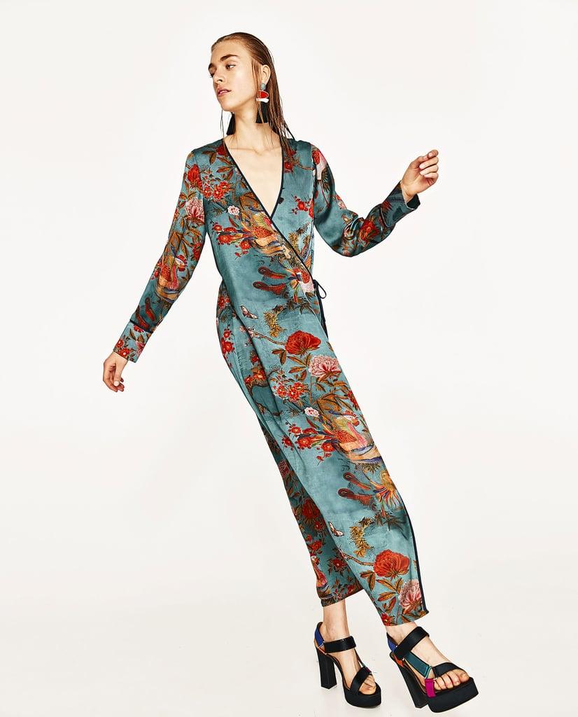 b09ae9c5650 Zara Printed Kimono Dress