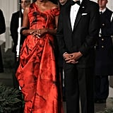The former FLOTUS donning a breathtaking Alexander McQueen number in 2011.