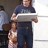 Olivier Martinez picked up some pizza in Hollywood on Sunday with his stepdaughter, Nahla.