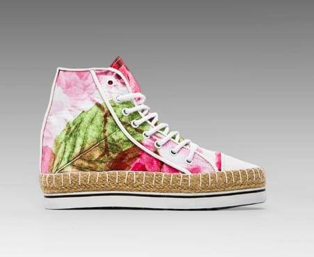 Shakuhachi Floral Dreams Hightop Sneakers ($280)