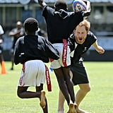 Prince Harry Plays Rugby With Sharks in South Africa