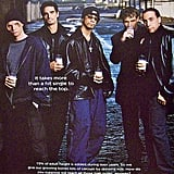 The leather-clad Backstreet Boys drank their milk in a back alley.