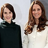 Kate Middleton on the Set of Downton Abbey